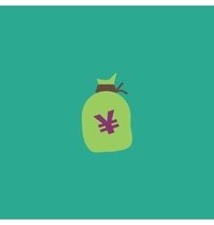 Money bag icon Yen JPY vector image