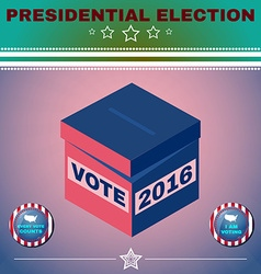 Usa presidential election 2016 i am voting vector