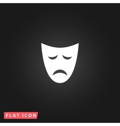 Sadness mask flat icon vector