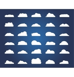 Set of different cloud vector