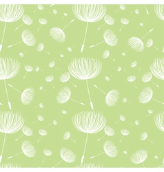 Abstract fluffy dandelion flower seamless pattern vector
