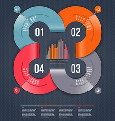 Abstract infographics design vector image vector image