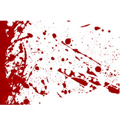 abstract splatter red color background vector image