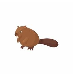 Beaver icon cartoon style vector image vector image