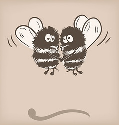 Bee doodle vector