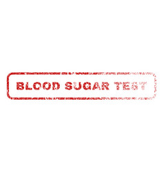Blood sugar test rubber stamp vector