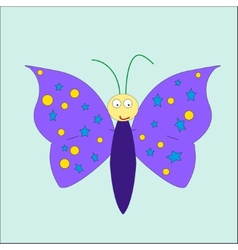 Cartoon cute butterfly vector image vector image