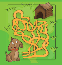 Cartoon of education maze or vector