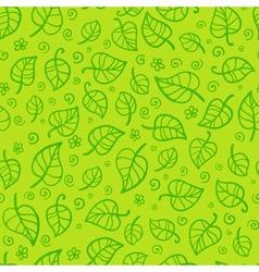 Green foliage cartoon seamless pattern vector image vector image
