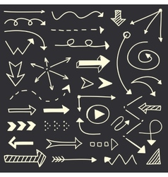Hand drawn arrows sketch set vector
