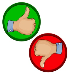 Hand gesture like unlike with thumb up icon vector image vector image