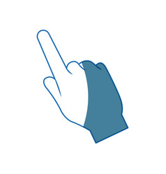 Hand pointing finger cursor icon vector