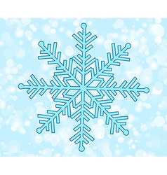 Happy new year snowflake vector image vector image