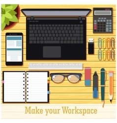 Make your workspace banner7 vector