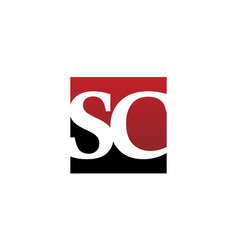 Modern logo solution letter sc vector