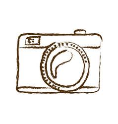 Monochrome hand drawn silhouette of analog photo vector