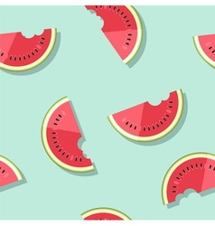 Pattern watermelons vector