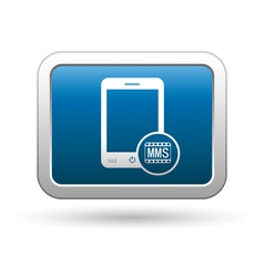 Phone icon with mms menu vector image vector image