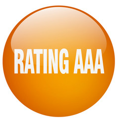 Rating aaa orange round gel isolated push button vector