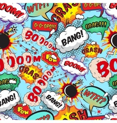 Seamless pattern comic speech bubbles vector