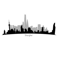 Shanghai Skyline vector image vector image