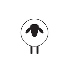 Sheep Icon Isolated vector image vector image