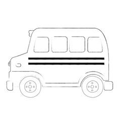 sketch of a school bus vector image