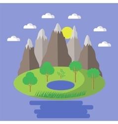 Spring landscape nature background vector