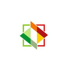 Square colored shape logo vector