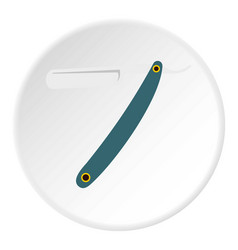 Straight razor icon circle vector