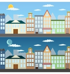 Summer cityscape vector