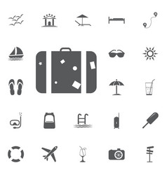 the suitcase icon luggage symbol flat vector image vector image