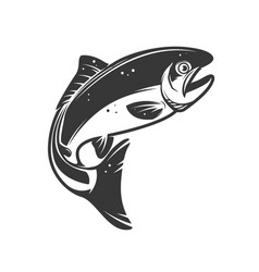 Trout fish icons isolated on white background vector
