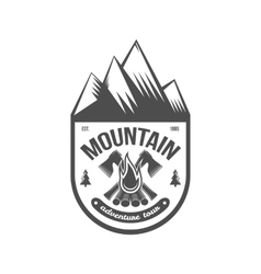 Vintage mountain explorer labels badge or logo vector image vector image