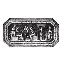 Wedgwood cameo vintage engraving vector image