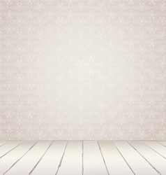 White vintage interior vector image