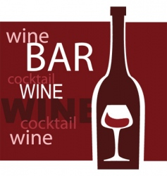 Wine and bar vector