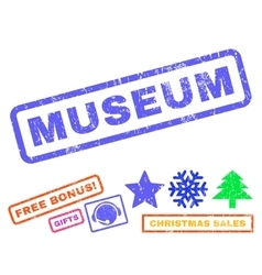 Museum rubber stamp vector