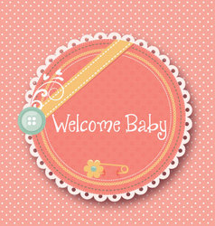 Baby announcement card welcome baby vector