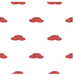 Salami icon in cartoon style isolated on white vector