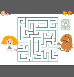 maze leisure game vector image