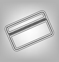 Credit card symbol for download  pencil vector