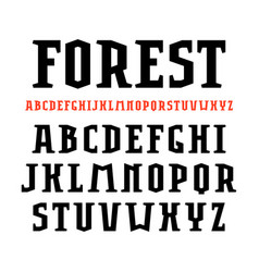 Serif font in sport style vector
