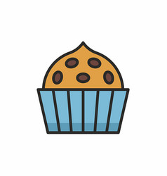 cupcakes icon vector image