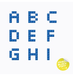 Unique pixel block alphabet vector