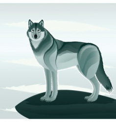 Beautiful wolf vector