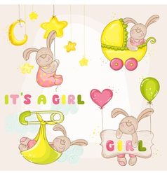 Baby bunny set - for baby shower vector