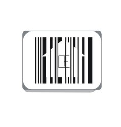Bar code isolated on white background vector
