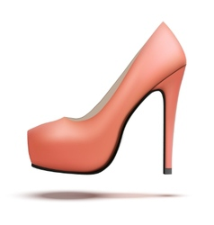Red vintage high heels pump shoes vector