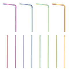 Colorful straws vector